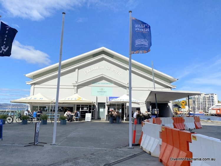 The front of Elizabeth Street Pier where Somerset On The Pier is located