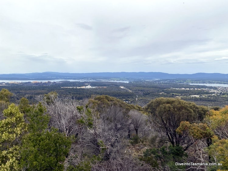 Tamar Valley from the Mt George lookout near George Town