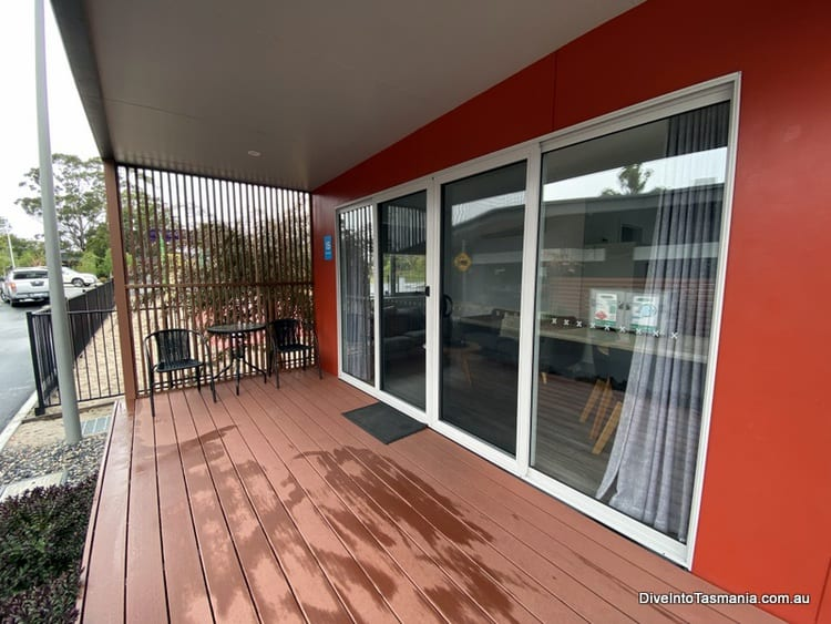 NRMA St Helens Waterfront Holiday Park park cabin deck