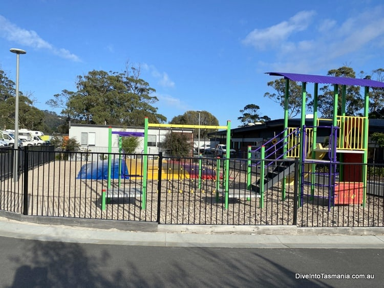 NRMA St Helens playground and jumping pillow