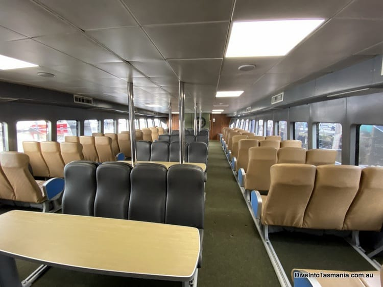 Maria Island Ferry Onboard in the lower level