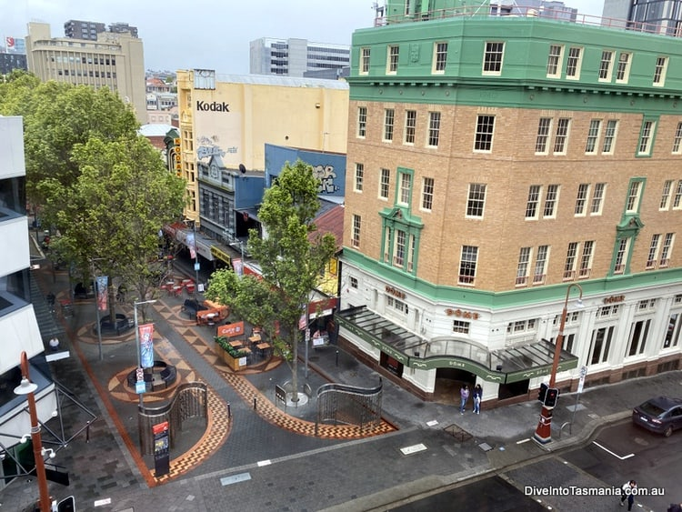 Quest Savoy Hobart - The view from our window at Elizabeth Street Mall at executive suite