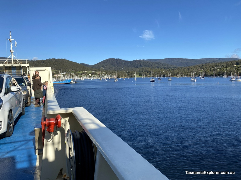 ferry to Bruny Island from Hobart view of Kettering