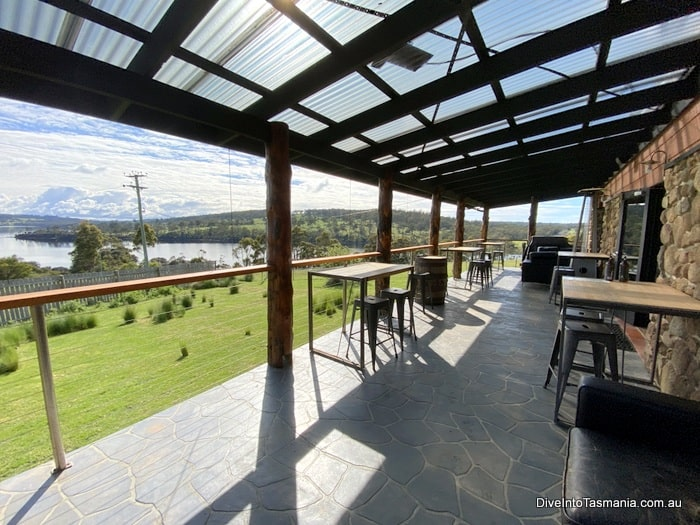 Bruny Island House Of Whisky porch area