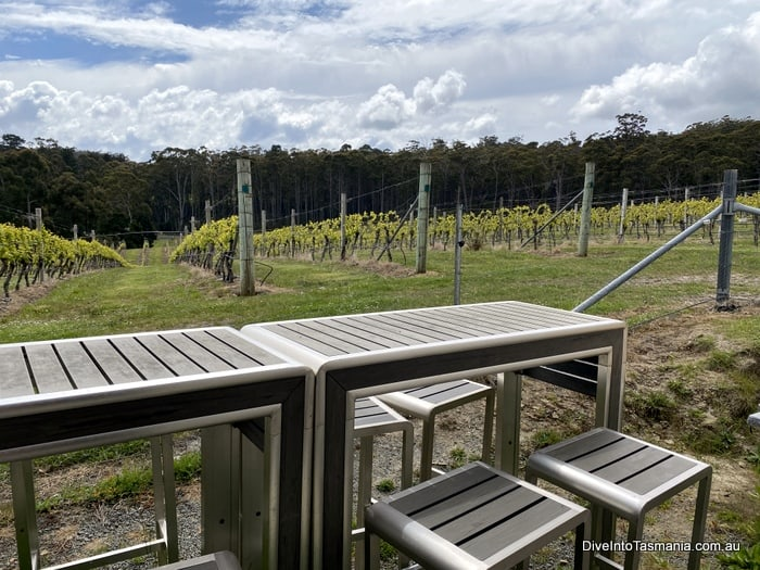 Bruny Island Winery table at Bruny Island Premium Wines
