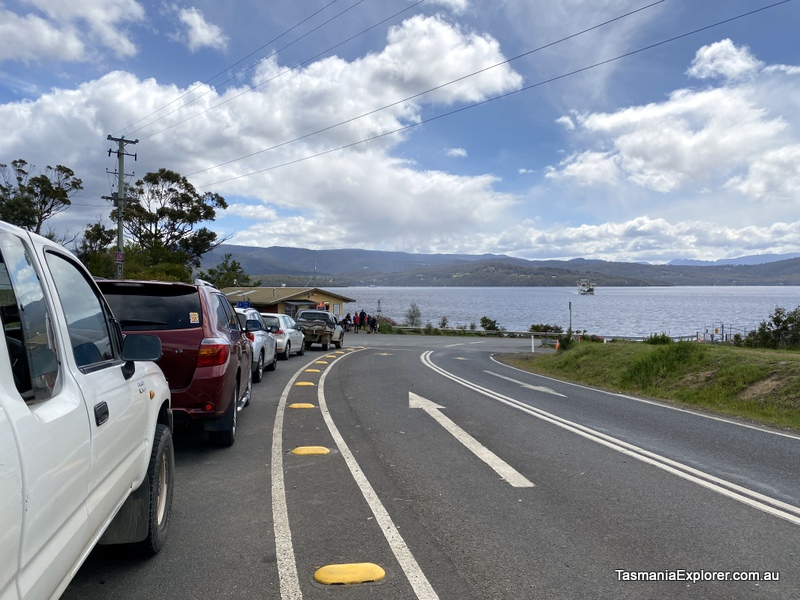 Waiting to board the ferry on Bruny Island to return to Kettering