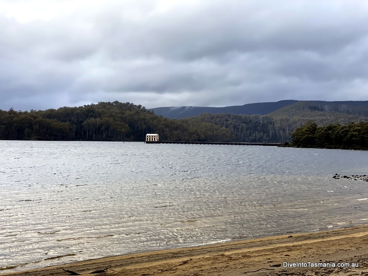 Pumphouse Point over the lake