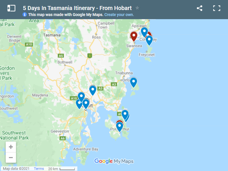 5 Days In Tasmania Itinerary - From Hobart