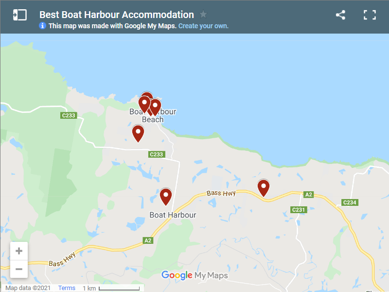 Best Boat Harbour Accommodation map