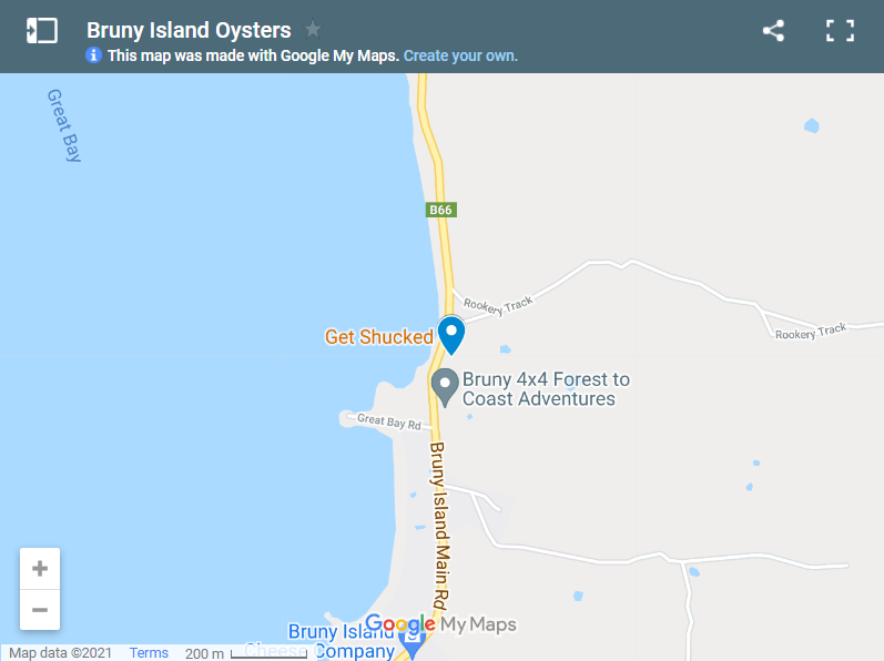Bruny Island Oysters map
