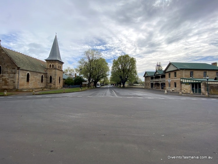 The Four Corners of Ross - this is the church and the pub