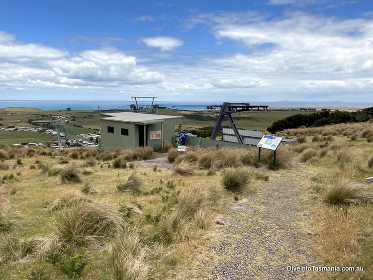 Stanley Tasmania The Nut chairlift at the top