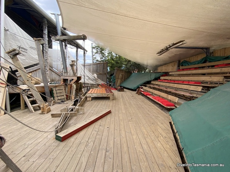 Inside the theatre for The Ship That Never Was strahan