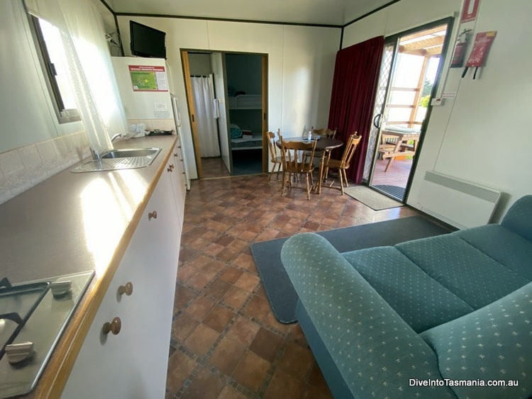 Big4 Kelso Sands Holiday Park Two-Bedroom Bungalow living and dining areas