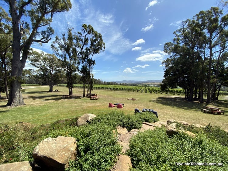 Goaty Hill Wines Tamar valley outdoor area