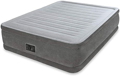 Intex Queen Deluxe Plush Raised Air Bed Mattress