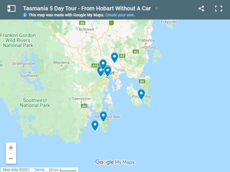 Tasmania 5 Day Tour - From Hobart Without A Car