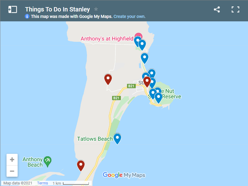 Things To Do In Stanley map