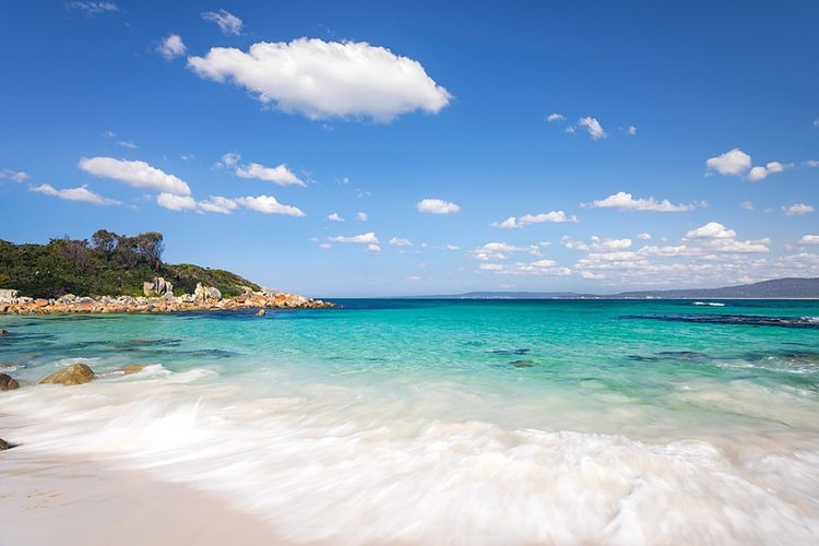 Gorgeous beach at The Gardens, Bay Of Fires