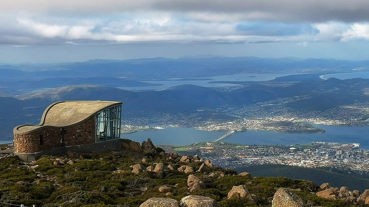 View of Hobart from Mt Wellington